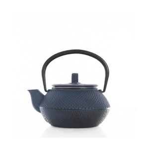 Niebieski żeliwny dzbanek do herbaty Bambum Linden, 300 ml