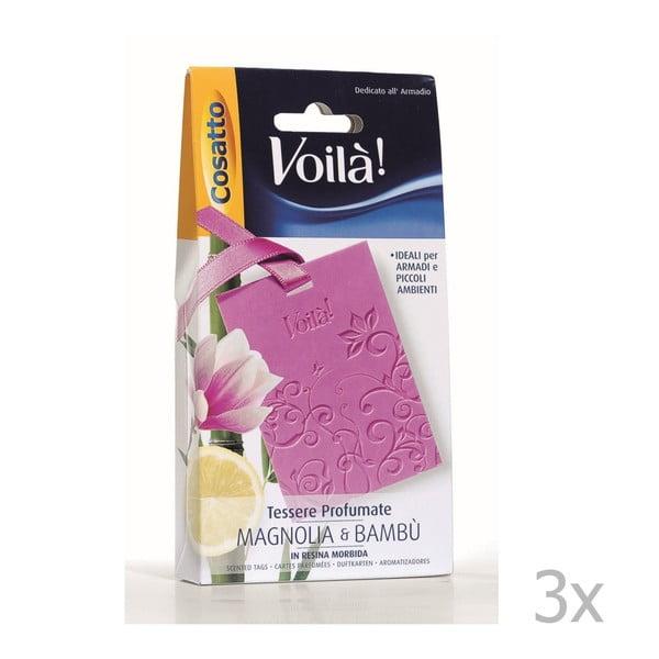 Zestaw 3 perfumowanych kart o zapachu magnolii i bambusa Cosatto Perfume