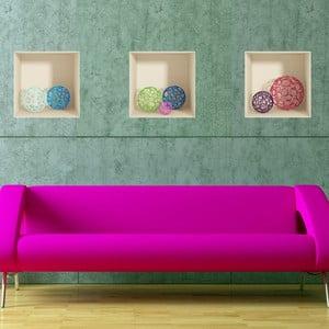 Zestaw 3 naklejek 3D Fanastick Spheres