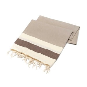 Ręcznik hammam American Stripes Beige, 100x180 cm