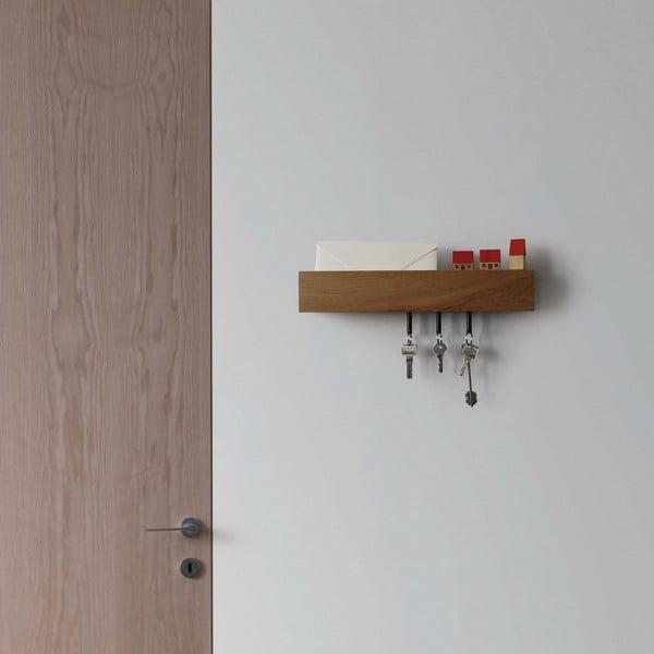 Półka z wieszakami na klucze Rail Chiaro, 40 cm