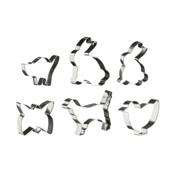 Zestaw 6 foremek Premier Housewares Animal