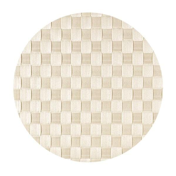 Mata stołowa West Round Ivory, 30x40 cm