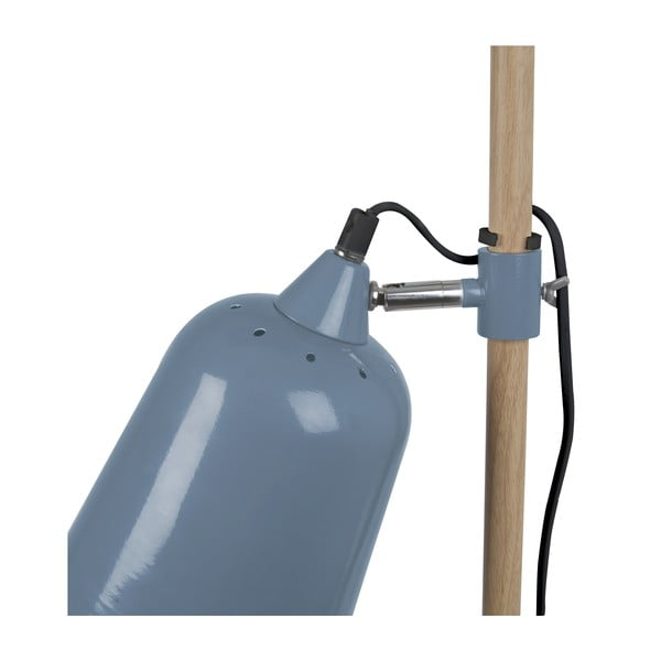 Niebieska lampa stołowa Leitmotiv Wood