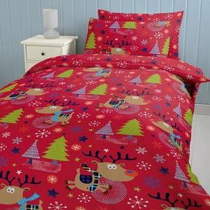 Pościel Christmas with Rudolph, 140x200 cm