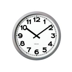 Biały zegar Present Time Giant Numbers