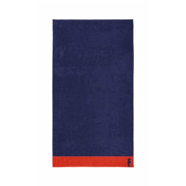 Ciemnoniebieski ręcznik Seahorse Cruise,100x180cm