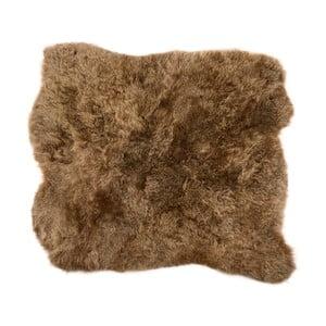 Brązowy dywan futrzany z krótkim włosiem Busta, 90x80cm
