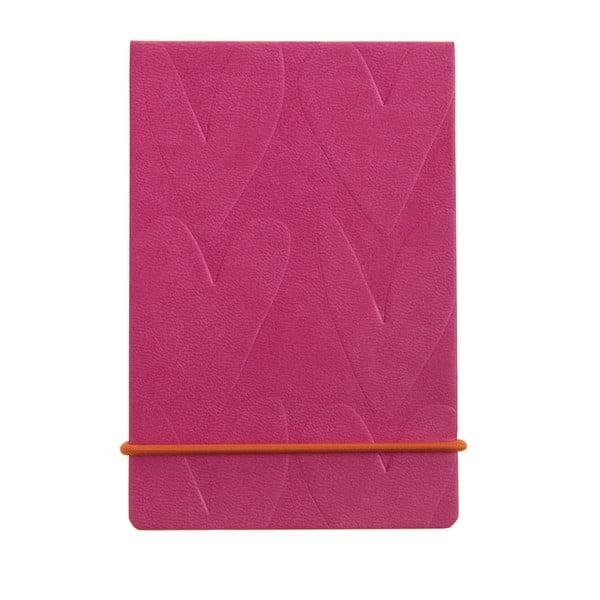 Różowy notatnik Caroline Gardner Pink Hearts