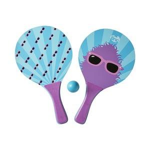 Fioletowe paletki do ping ponga z piłeczką TINC Bat & Ball