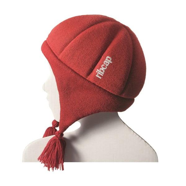 Czerwona dziecięca czapka ochronna Ribcap Chessy, L