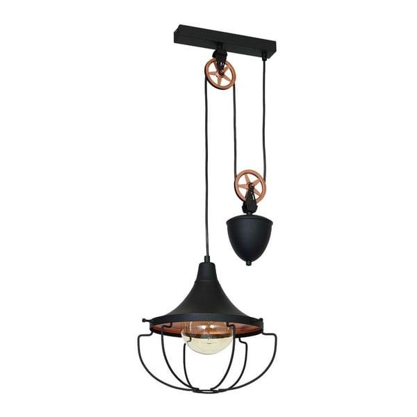 Czarna lampa wisząca Perseus Grupo