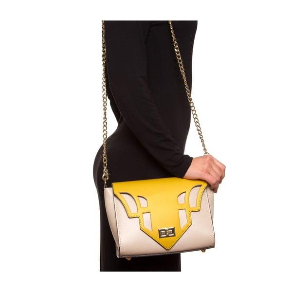 Żółta skórzana torebka Luisa Vannini 3036,