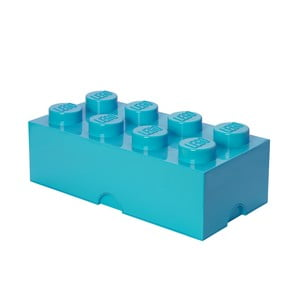 Błękitny pojemnik prostokątny LEGO®