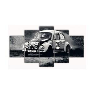 Pięcioczęściowy obraz Old Car, 100x60 cm