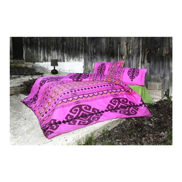 Komplet pościeli Marbel Pink, 200x220 cm