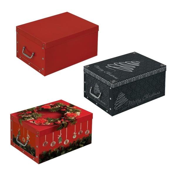 Zestaw 3 pudełek Christmas, 48x35 cm
