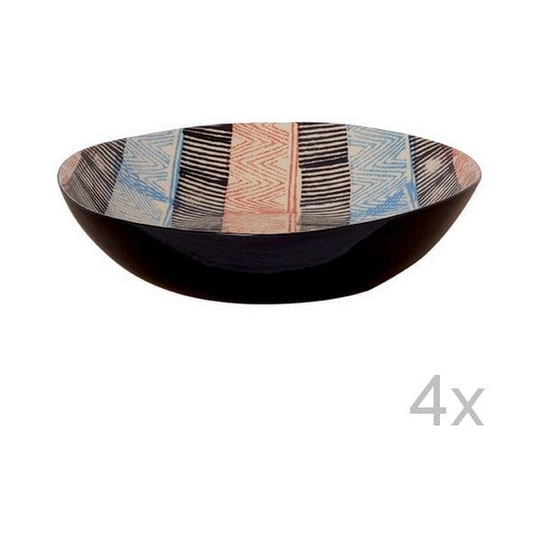 Zestaw 4 głębokich talerzy Samburu, 21,5 cm