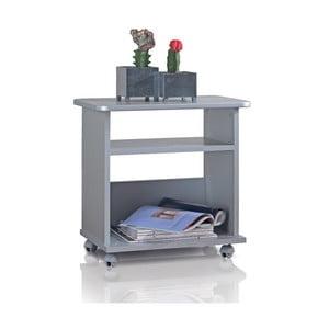 Wielofunkcyjna półka na kółkach Cabinet, srebrna