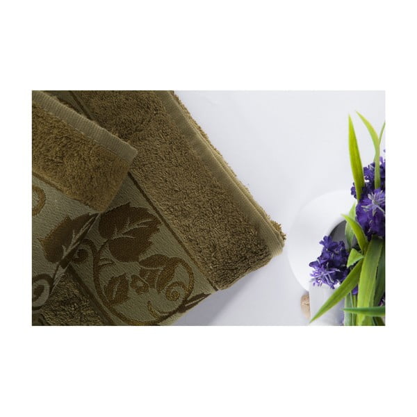 Zestaw 2 ręczników Bamboo Green, 70x140 i 50x90 cm