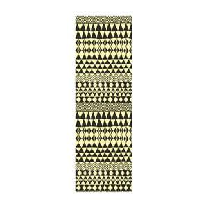 Winylowy dywan Etnico Crema Negro, 80x250 cm