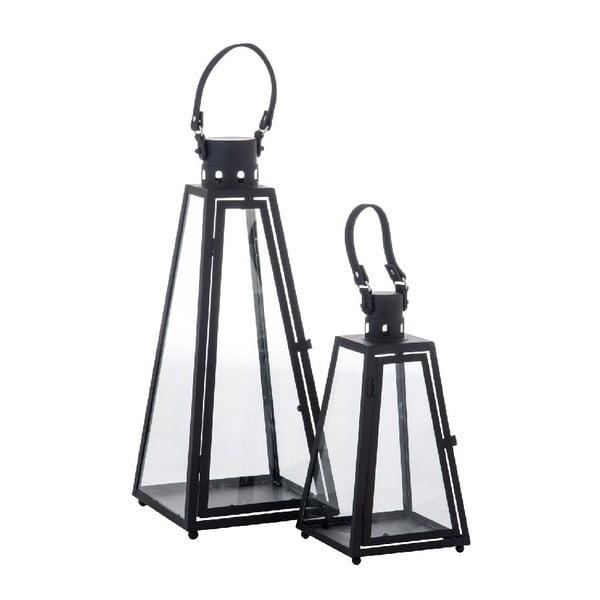 Zestaw 2 lampionów Pyramid Black