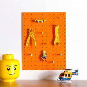 Pomarańczowa tablica wielofunkcyjna Pegboard Small, 40,5x30cm