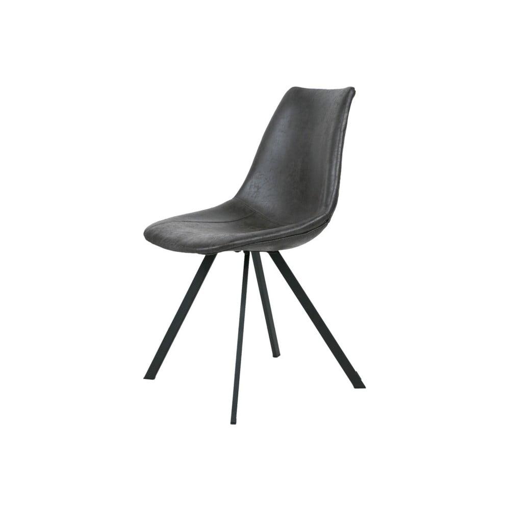 Ciemnoszare krzesło z czarnymi nogami Canett Zobel