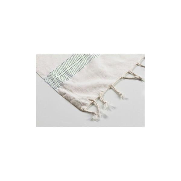 Ręcznik hamam Shirred Green, 100x180 cm