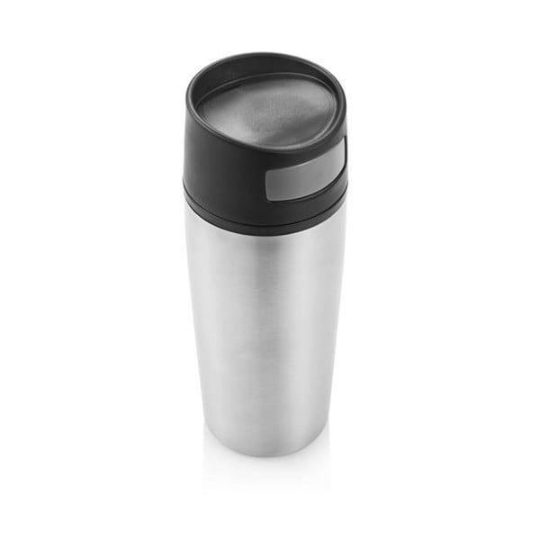 Srebrny   kubek termiczny do auta XD Design