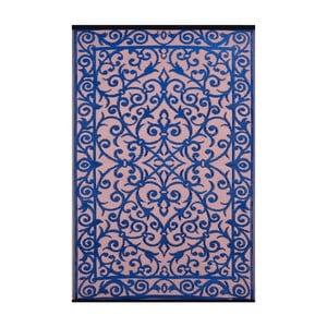 Niebiesko-różowy dwustronny dywan na zewnątrz Green Decore Gala, 90x150 cm