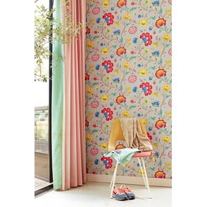 Tapeta Pip Studio Floral Fantasy, 0,52x10 m, jasnoszara