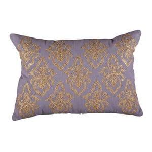 Poszewka na poduszkę, szara z błyszczącym miedzianym wzorem