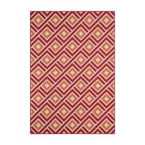 Czerwony wytrzymały dywan Webtapetti Greca Red, 133x190 cm