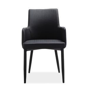Zestaw 4 czarnych krzeseł Intertrade Gala