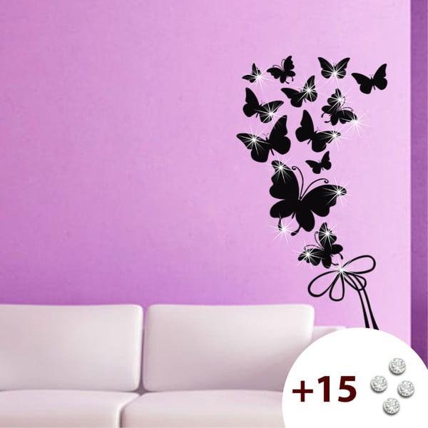 Naklejka z 15 kryształkami Swarovski Fanastick Butterflies