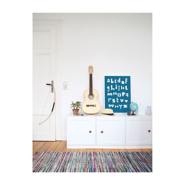 Plakat SNUG.ABC, 50x70 cm, niebieski
