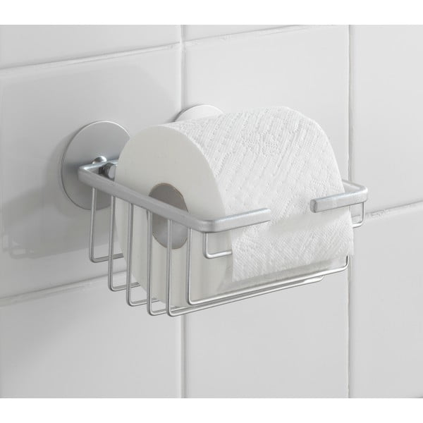 Uchwyt na papier toaletowy Wenko Alumimium, do 40 kg