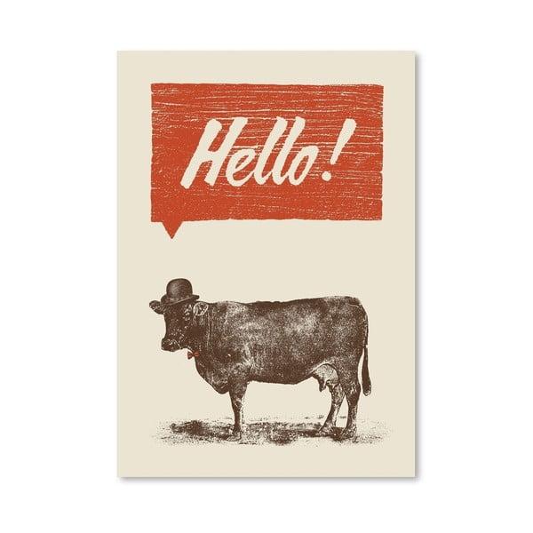 Plakat Hello, 30x42 cm