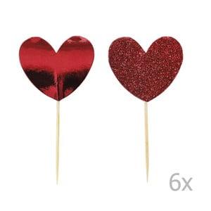 Zestaw 12 ozdób na tort Miss Étoile Heart
