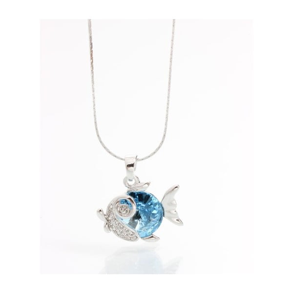 Naszyjnik ze Swarovski Elements, niebieska rybka