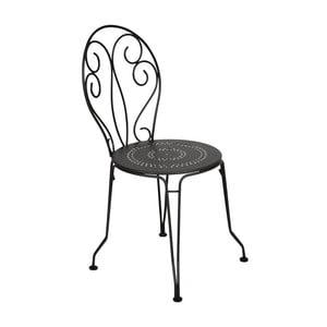 Czarne krzesło metalowe Fermob Montmartre