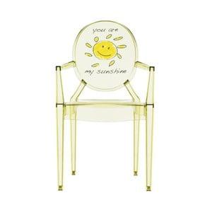 Przezroczyste krzesełko dziecięce Kartell Lou Lou Ghost Sun
