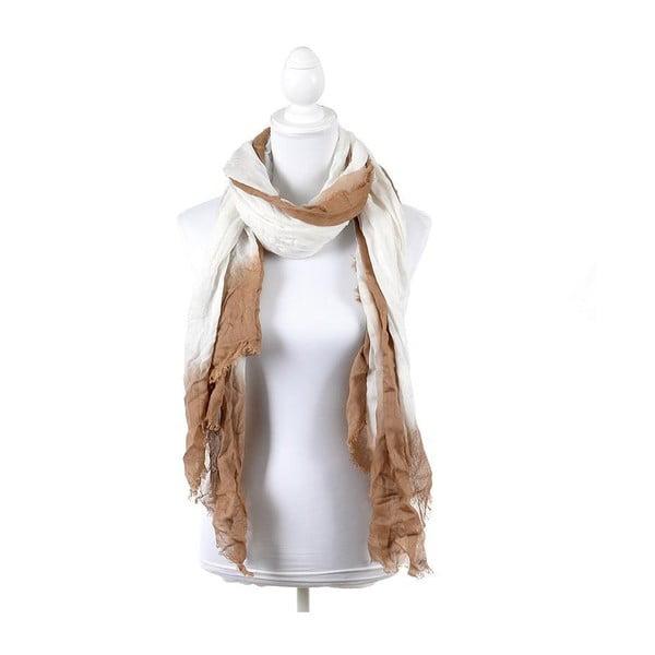 Chusta/pareo BLE Inart 100x180 cm, brązowo-biała
