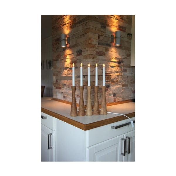 Drewniany świecznik LED Midja