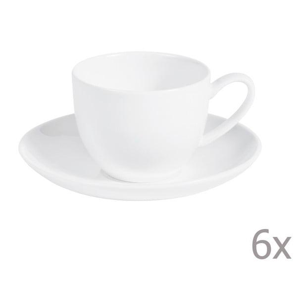 Zestaw 6 filiżanek do kawy ze spodkiem Anna