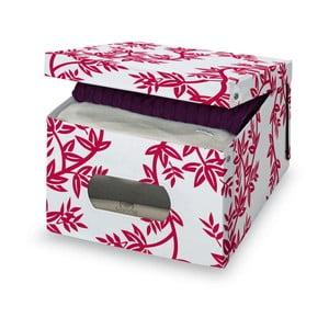 Czerwono-białe pudełko Domopak Living, rozm. L