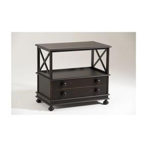 Czarny stolik pod TV z drewna Castagnetti Abby