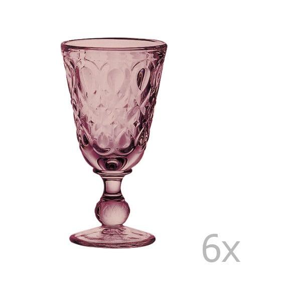 Zestaw 6 ametystowych kieliszków do wina Lyonnais, 230 ml