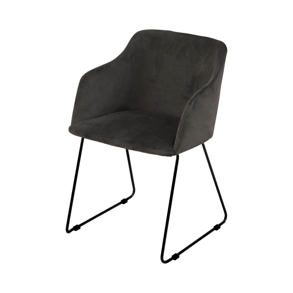 Antracytowe krzesło do jadalni Interstil Casablanca